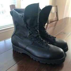 Belleville Black Leather Steel Toe Vibram Boots